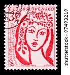 czechoslovakia   circa 1963  a... | Shutterstock . vector #97493219