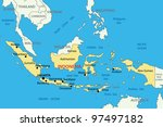 archipelago,asia,blue,border,borneo,capital,city,country,east,english,eps,geographic,geographical,geography,illustration