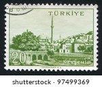 turkey   circa 1959  stamp... | Shutterstock . vector #97499369