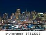 san francisco. image of san...   Shutterstock . vector #97513313