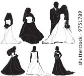 bride groom vector 2 | Shutterstock .eps vector #9751789