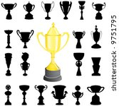 reward  cup  vector | Shutterstock .eps vector #9751795