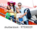 family going on a trip... | Shutterstock . vector #97530329
