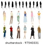 women's fashion | Shutterstock .eps vector #97540331