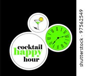 cocktail happy hour | Shutterstock .eps vector #97562549