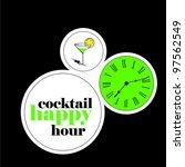 cocktail happy hour | Shutterstock .eps vector #97562549