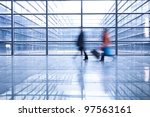 people silhouettes at office... | Shutterstock . vector #97563161