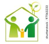 pictogram showing figures happy ... | Shutterstock . vector #97563233