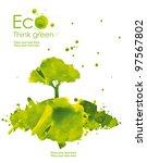 illustration environmentally... | Shutterstock . vector #97567802