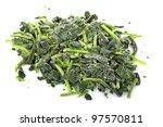 Frozen Spinach On White