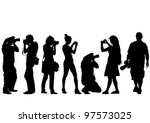 vector image of young... | Shutterstock .eps vector #97573025