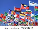 brazil and world national flags ... | Shutterstock . vector #97580711