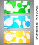 set of colorful paper... | Shutterstock .eps vector #97590908