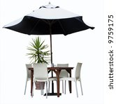 Table  Chairs  Plant And...