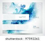 brochure background with... | Shutterstock .eps vector #97592261