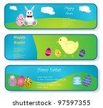 easter banners | Shutterstock .eps vector #97597355