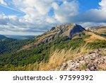 scene in crimean mountains - stock photo