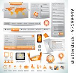 premium templates and web stuff ... | Shutterstock .eps vector #97599449