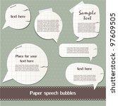 paper speech bubbles | Shutterstock .eps vector #97609505