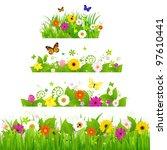grass with flowers set | Shutterstock . vector #97610441