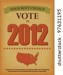 vintage election template | Shutterstock .eps vector #97631195