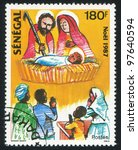 senegal   circa 1987  a stamp... | Shutterstock . vector #97640594