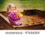 Adorable Little Girl Playing...