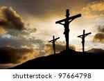 Calvary Crucifixion With Sun...
