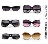 collection of sunglasses... | Shutterstock . vector #97673243