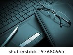 Business Items On Laptop...