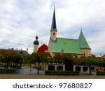 Small photo of Chapel of Our Lady standing on the central square (Kapellplatz) in the Bavarian Altotting sanctuary.