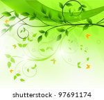 floral background design | Shutterstock .eps vector #97691174