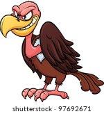 Evil Looking Cartoon Vulture....