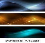 Horizontal Banner Set. Wavy...
