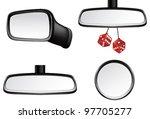 car mirror set   Shutterstock .eps vector #97705277
