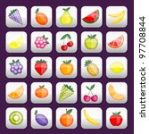 buttons set with fruits for... | Shutterstock .eps vector #97708844