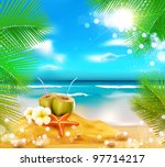 Vector Background Of The Sea ...