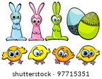 Set Of Three Easter Bunnies ...