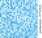 Blue Mosaic Tile Seamless...