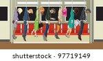 commuters vector illustration... | Shutterstock .eps vector #97719149