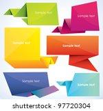 set of origami banners  vector... | Shutterstock .eps vector #97720304