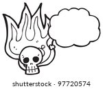 cartoon burning skull cartoon | Shutterstock . vector #97720574