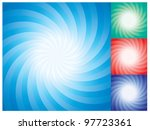 vector set of abstract star...
