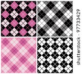 Argyle Plaid Pattern In Trendy...