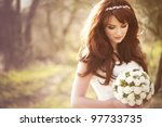 Beautiful Bride Outdoors In A...