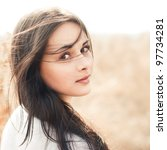 beautiful smiling girl | Shutterstock . vector #97734281