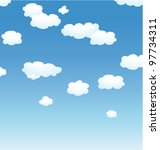 vector background with clouds... | Shutterstock .eps vector #97734311