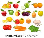 big collection of fruits and... | Shutterstock .eps vector #97734971