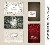 set of 5 detailed business... | Shutterstock .eps vector #97740134