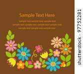 cute card with flowers. vector... | Shutterstock .eps vector #97752281